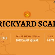 Brickyard Scare 2018 in Brickyard Square is Thursday, Oct. 25