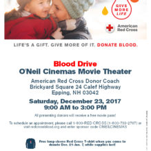 Time to Give Back this Holiday Season with our Epping Blood Drive
